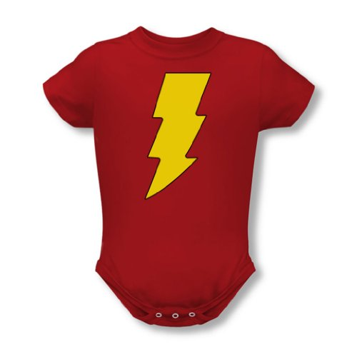 Dc Comics - - Logo infantile Shazam T-shirt In Red, 18-24 Months, Red