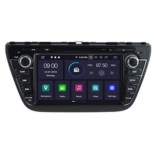 Autosion Android 10 Lecteur DVD de Voiture GPS Radio Head Unit Navi stéréo multimédia WiFi pour Suzuki S-Cross 2013 2014 2015 2016 2017 2018 Support Commande au Volant