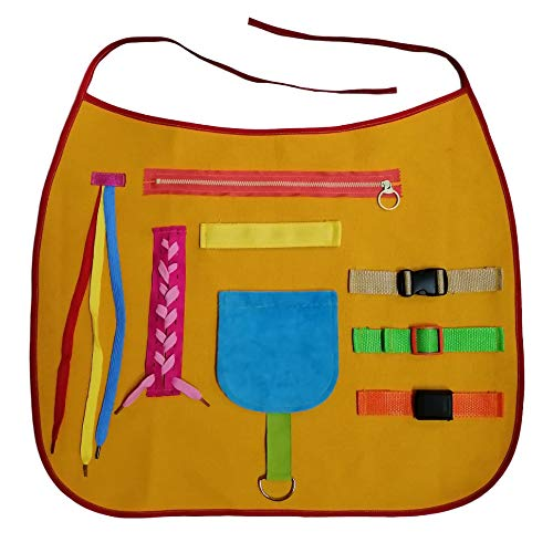 Activity Apron-Suitable for Alzheimer's disease, busy apron for dementia patients,alzheimers fidget toys for adults .used to for treating and relieving anxiety, improve agility