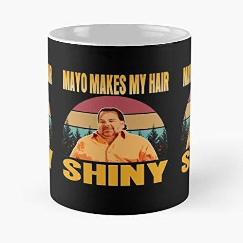 Mayo Makes My Hair – Taza de café de cerámica blanca
