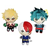 My Hero Academia (Boku no Hero Academia) Figura colgante de muñeca de metal llavero japonés My Hero Academia de peluche encantador de felpa