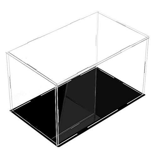 F Fityle Vetrina Trasparente Acrilica Universale Vetrina Vetrina Vetrina per Pallina da Tennis, Baseball, Pallina da Golf, Figure, Modelli, Orologi - 18x10x8cm