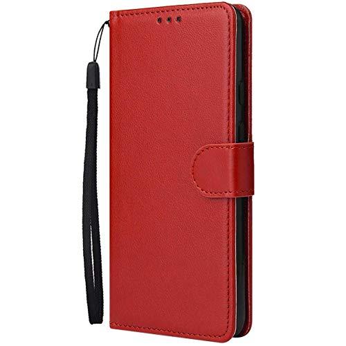 Dclbo Hülle für Huawei Mate 20 Pro, Handytasche Case Handyhülle Flip PU Leder Hülle Cover Schutzhülle Magnet Klapphülle Schale mit Kartenfächer Standfunktion für Huawei Mate 20 Pro-Rot