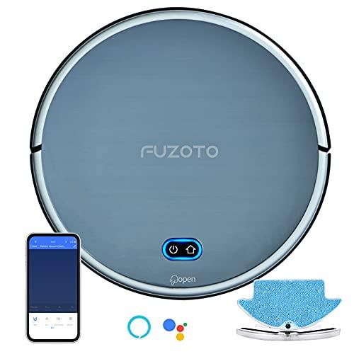 FUZOTO Aspirapolvere Robot 3 in 1, con Mappatura e App, Aspirazione Potenza 1800Pa, Navigazione Intelligente, Iideale per Peli di Animali, Moquette e Pavimenti Duro, Alexa, Wifi, F8