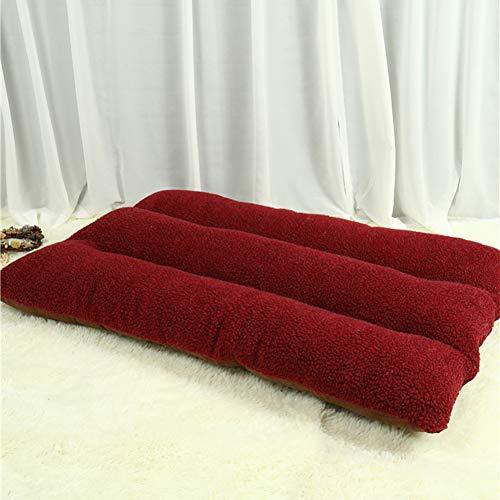 WEWE Knuffel Hond Bed Kennel Haustierbett,Dikke Hond Kussen Verwijderbare Cover Voor Klein, Medium, Grote Honden & Katten, 100x65x15cm(39x26x6inch), Rood