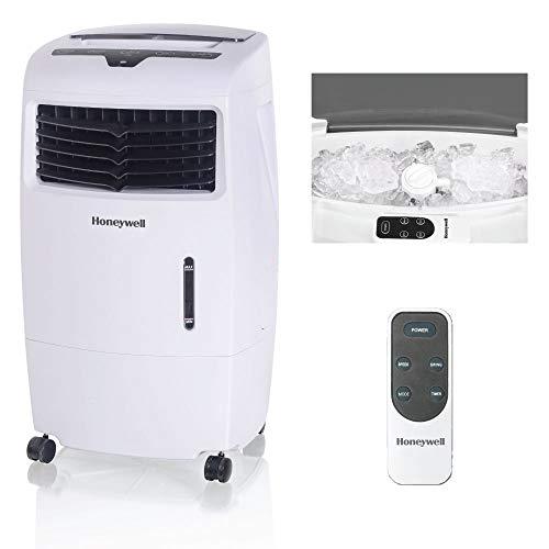 Honeywell 500 CFM Fan Indoor Portable Evaporative Cooler, White