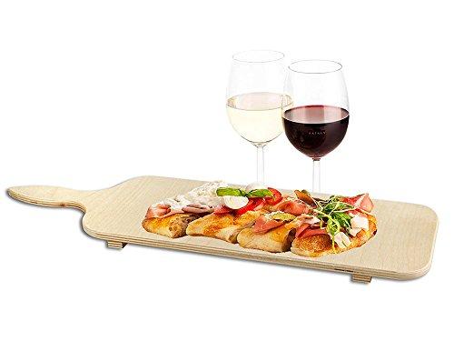 Vetrineinrete Tagliere in Legno per aperitivo e antipasto Lungo 50 cm Buffet Bar Ristorante Snack aperitivi salumi Formaggi D45