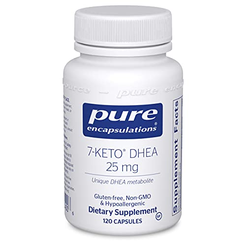 Pure Encapsulations 7-Keto DHEA 25 mg   Unique DHEA Metabolite Supplement to Support Thermogenesis and Healthy Body Composition*   120 Capsules