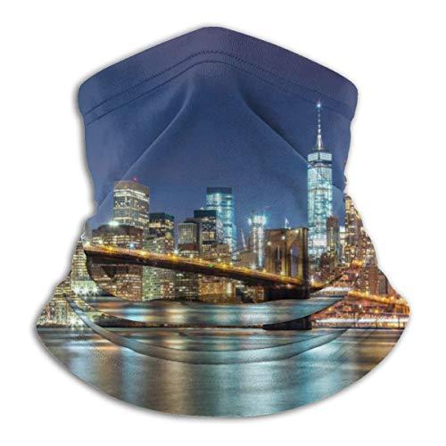 Akhy Multifunctional Headwear Face Mask Headband Neck Gaiter New York Balaclava for Men and Women