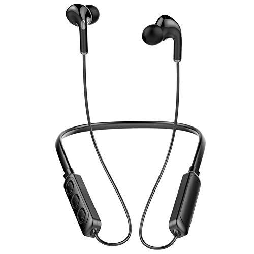 LDGG Auriculares Inalámbricos con Micrófono Integrado Auriculares Bluetooth Auriculares Estéreo con Bajo HiFi Auriculares Deportivos con Cancelación de Ruido a Prueba de Agua para