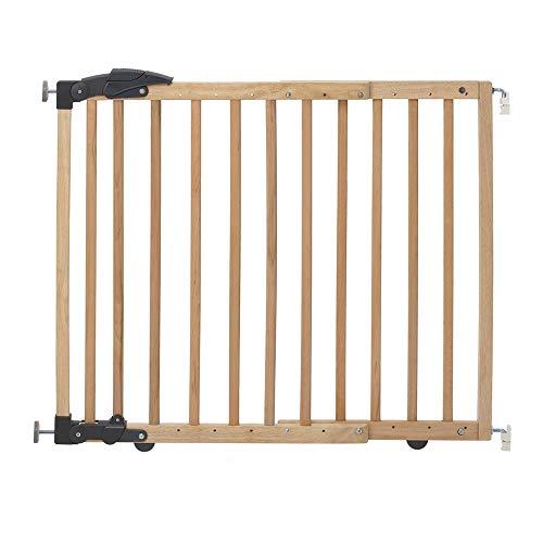 Geuther 2714 NA Türschutzgitter zum Klemmen oder Schwenken 2in1, 2714, in natur, Verstellbereich, 68 - 102 cm, braun, 3.9 kg
