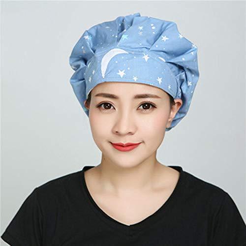 JIANGPENG Verstelbare keuken Baotou haaruitval huishouden katoen rook anti-hoed vrouwelijke anti-braadpan kok pet
