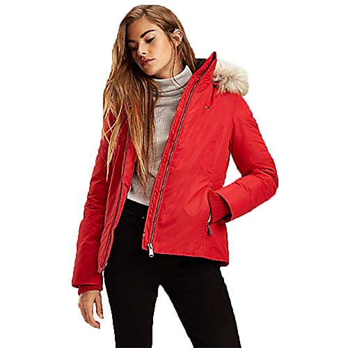 Tommy Jeans Cazadora H Rojo De Mujer XS Rojo
