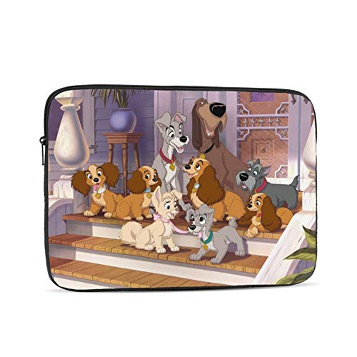 Lady Tramp Waterproof Laptop Shoulder Messenger Bag Polyester Zipper, for 10 Inch 12 Inch 13 Inch 15 Inch 17 Inch Case Sleeve Protective Soft Padded 15 inch