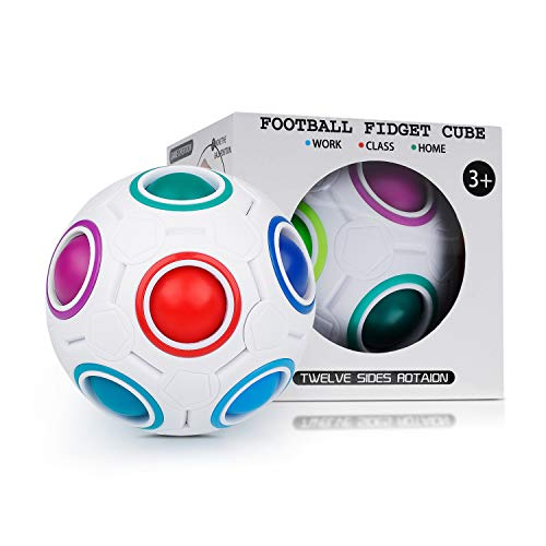 Coolzon Mágico Bola de Cubo de Velocidad, Bola Mágica de Arco Iris 3D Puzzle Ball Juguetes para niños Adolescentes Adultos