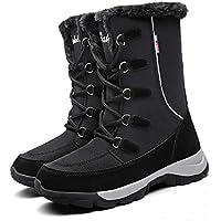Mujer Botas para Raquetas de Nieve Zapatos de Invierno a Prueba de Agua, Forro y Suela de Goma Isotherm Transpirable y Duradero 40 EU Negro,25 cm talón a los pies