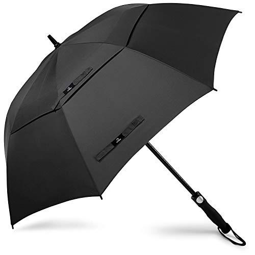 PROSPO 68 Inch Paraguas de Golf de Gran Tamaño con Apertura Automática Toldo Doble Ventilado Paraguas Grande a Prueba de Viento Sombrillas Impermeables