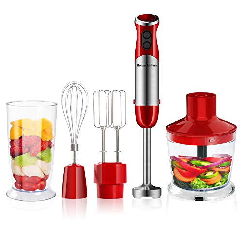 Bonsenkitchen Stabmixer 5-in-1 Set, 800W...