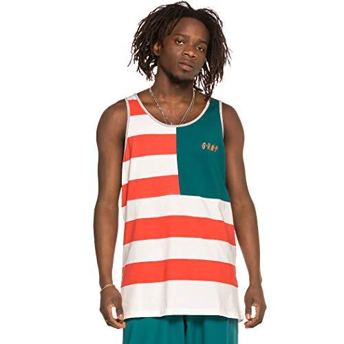 GRIMEY Camiseta Tirantes Midnight Stripes tee SS19 Green-S