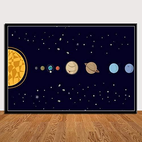 zhuziji Arte Carteles e Impresiones Vintage Planetas Sistema Solar Galaxia Universo Pared Imprime Regalo Imprimir Decoración Moderna para el hogar Decoración Moderna pa 50x70cm(Sin Marco)
