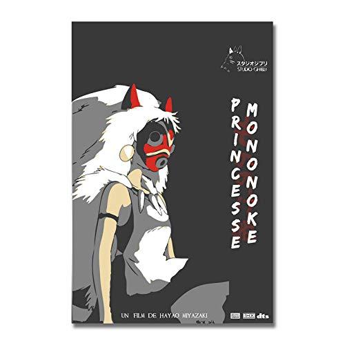 xinxinxiangrong Póster de película de Dibujos Animados de la Princesa Mononoke Ghibli, póster de Pintura en Lienzo para la decoración del hogar de Roma Viva A356 50 × 70 cm sin Marco
