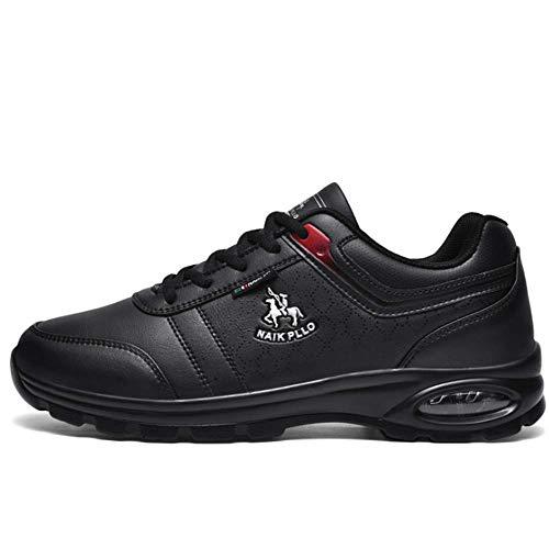 IDE Play Chaussures de Plein air Hommes Chaussures Respirantes Occasionnels résistant à l'usure des Chaussures Hommes légers Espadrilles Blanches des Hommes de Tourisme Courir,Noir,8