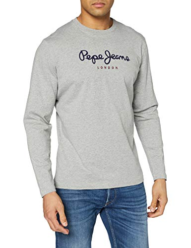 Pepe Jeans Eggo Long PM501321 Top de manga larga, Gris (Grey Marl 933), Large para Hombre