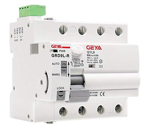 4-poliger Fernbedienungsschalter 63A 30MA-4p_40A_100mA_RCCB_RD-R-DC12V-Automatikschalter für automatisches Wiedereinschalten des FI-Schutzschalters