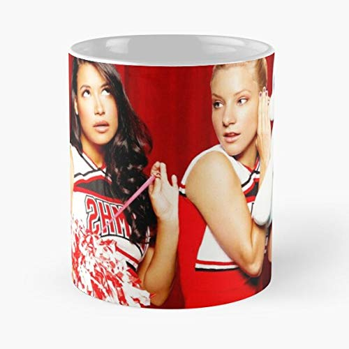 Mememecosmetics Heather Morris Santana Brittany Naya Pierce Lopez Glee Rivera Gleek Brittana Taza de café con Leche 11 oz