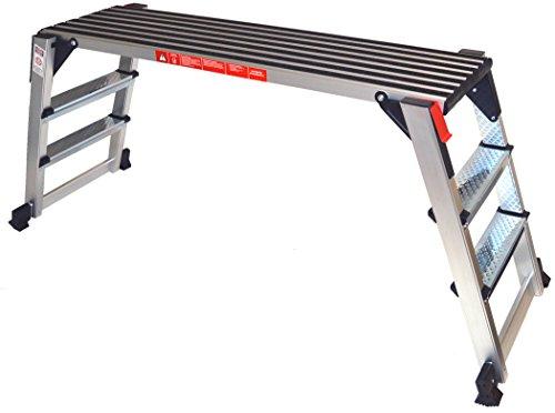 Arbeitsplattform Arbeitsbühne Gerüstleiter 70 cm oder 48 cm Arbeitshöhe Aluleiter Tritt Stufentritt (70 cm Arbeitshöhe)