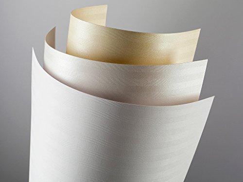 20 FALAMBI Premiumkarton Bali creme, Papier 220 g/m², bedruckbar, fein geprägter durchgefärbter Karton