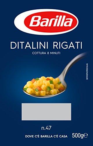 Barilla, Ditalini Rigati, Pasta di Semola di Grano Duro - 500 gr