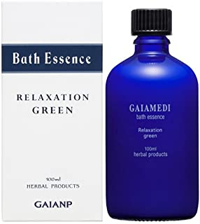 GAIA MEDI (ガイアメディ) バスエッセンス グリーン 100ml (入浴剤) 天然精油 プチグレイン ユーカリ・グロブルス グレープフルーツ 配合