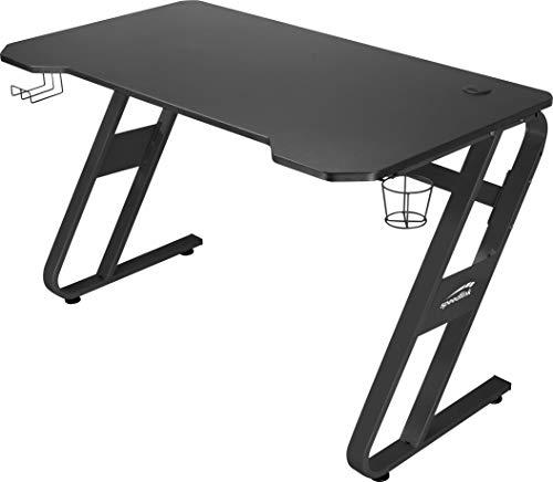 SPEEDLINK SCARIT Gaming Schreibtisch, Holzwerkstoff, Schwarz, 114 x 68 x 75 cm 26 Kilogramm