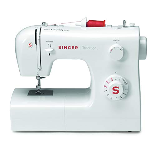 SINGER Tradition 2250 - Máquina de coser (Color blanco, Costura, Paso 4, Variable, Giratorio, Variable)