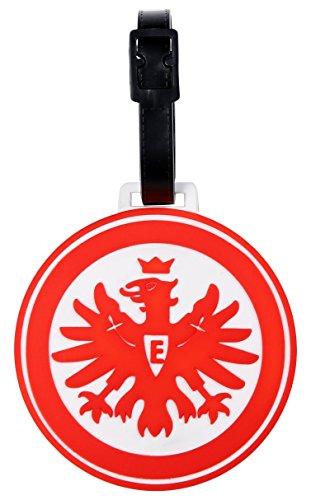 MarkenMerch Kofferanhänger Eintracht Frankfurt Gepäckanhänger, 10 cm, Schwarz/Weiß Mit Logo