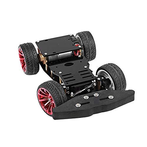 Leepesx 4WD Smart Robot Car Chassis Kit Telecomando Toy Hobby RC Car Chassis Scatola fai da te compatibile con controller PS2