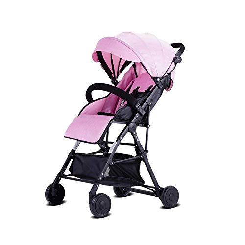 YL Kinderwagenwagen leicht tragbar mit klappbarem Kindersitz 0-3 Jahre Alter Kinderwagen (Color : Pink)