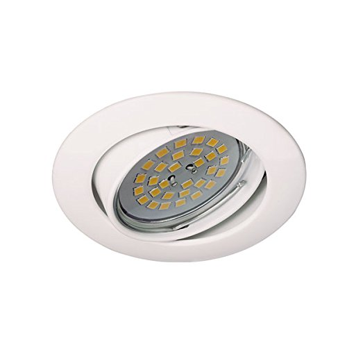 CristalRecord Foco empotrable techo GU10, 7 W, Blanco
