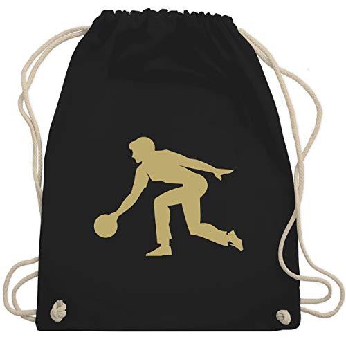 Shirtracer Bowling & Kegeln - Keglerin - Unisize - Schwarz - turnbeutel kegeln - WM110 - Turnbeutel und Stoffbeutel aus Baumwolle