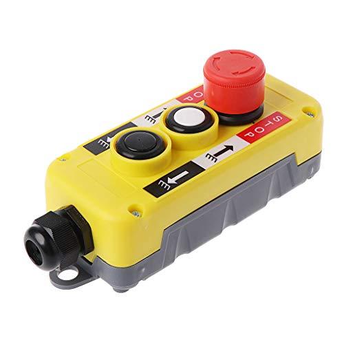 Pulsador, parada de emergencia industrial impermeable del interruptor del botón del interruptor de presión para la estación de control del alzamiento eléctrico de la grúa