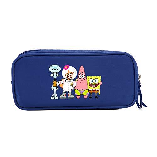 Spongebob Squarepants Federmäppchen Eleganter Mäppchen Trendy Design Bleistift-Beutel-beiläufige Druck Aufbewahrungstasche for Jungen und Mädchen Unisex (Color : A04, Size : 21 X 10 X 5.5cm)