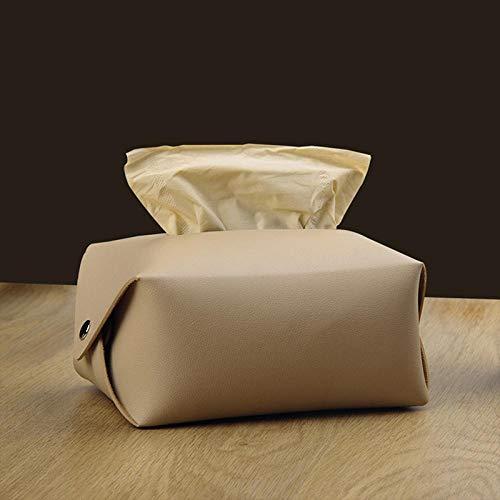 XMBT Multifunktionaler Pu Leder Taschentuchhalter für Autoserviettenbeutel Schwarzes Wohnzimmer Porta Servietten Kleenex Tissuehalter