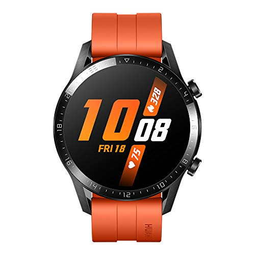 HUAWEI Watch GT 2 (46 mm) Smart Watch, 1.39 Inch AMOLED Display with 3D Glass Screen, 2 Weeks Battery Life, GPS, 15 Sport Modes, 3D Glass Screen, Bluetooth Calling Smartwatch, Sunset Orange