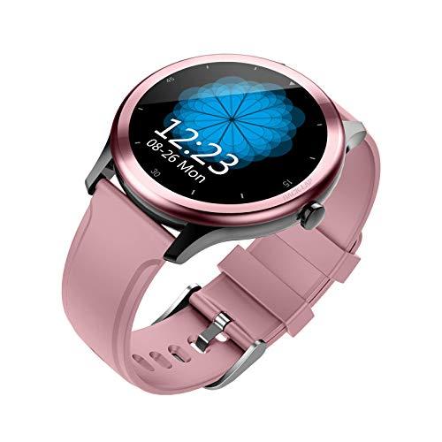 ZHENAO Smartwatch Men's Lady Watch Smart Watch, Touch Screen Steering Rate Cardy Rate Sleep Monitoring Watch Pulsera Recordatorio de Inforión de Inforión de 1.3 Pulgadas Toque Fitne