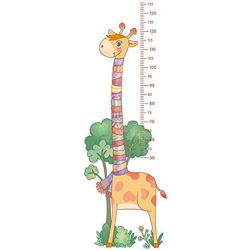 GWFVA Slaapkamer decoratie voor kinderen Giraffe Credative behang sticker hoogte zelfklevende sticker geschilderd hoogte muursticker muursticker