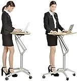 N/Z Equipo Diario Podio Stand up Laptop Mesa Conferencia pequeña Puede Mover Atriles de Escritorio de conferencias L (Color: Plateado Tamaño: Talla única)