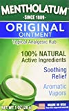 Mentholatum Original Ointment Soothing Relief, Aromatic Vapors - 1 oz (Pack of 2)