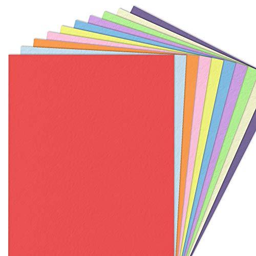 10 Farben, A4 120 g/m² Farbige Buntes Papier Ton-Papier, 100 Blatt