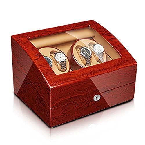 ANTLSZH Reloj De Madera Winder para Relojes Automáticos, con Motores Tranquilos Minodificadores De Relojes Automáticos, con Adaptador De Ca